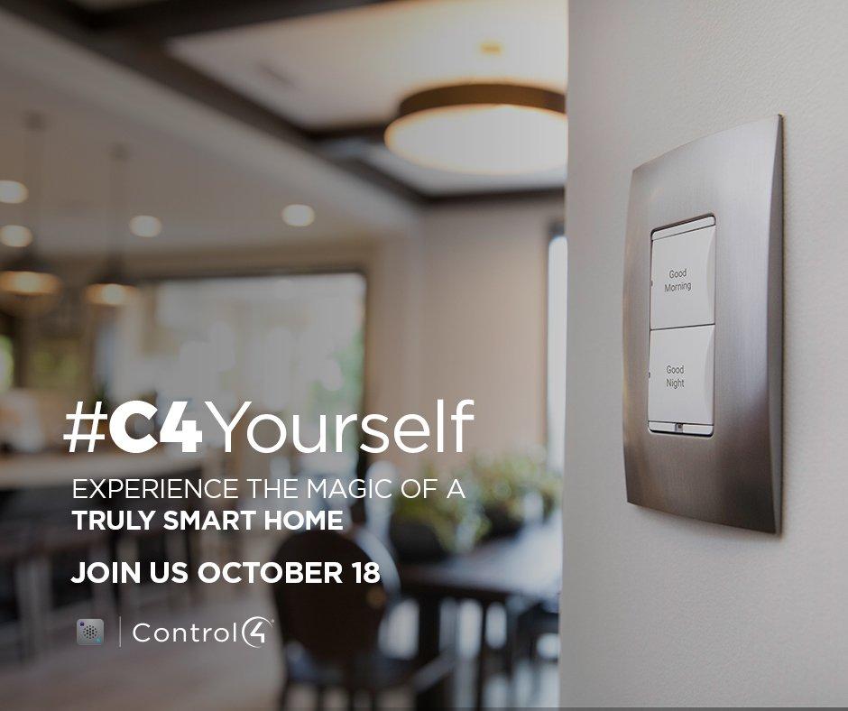 Now is your chance to see what home automation is all about. Stop by October 18th 4-8pm to #C4Yourself what life in a smart actually looks like. RSVP with the link below, spots are filling up fast. https://l.facebook.com/l.php?u=https%3A%2F%2Fwww.control4.com%2Flocal%2Fc4yourself%3Fdealer%3DAUT967&h=AT1b0rrI5Maa4ABMYnK0z77xZPaymj2V12fJATbkrQ8YOErT37d9aGLx-XWKPPyvnD0oBYfMxrShS9aiGzU1c6yXaPkJZ4vGghBtJVrpD55gWBGzvfrjIMfBBnalnGUQ6ceNgwNc07DxW7PbzSC02u9P2I2JbzbsiB9MIJiKJOMTrvTG1MF4iXdbK-GFAy_QLjmrXm7poWK6c6iz8aW6a8Jipp-J8fJeEvC5WdrWoMKZ0MFHyCd9Z1UriXFU1cDy57iYEJ3ntmmvH5pCWRopL7q1-9syv1iiveF7Oq5Y2vtLXJJgJ3vFOqJGo0JR0_0QJ0qL6HfW8DQhfGQi3-dH3_6IBMcrYN8rNgXbxww1a9rBCnKDSLHYCKdOeOf70XFwowpjzpcdLlsFDCFwUz5uoNOd1Xp8iA… #automatedlivingsolutions #Yegpic.twitter.com/fCeFwdtbuo