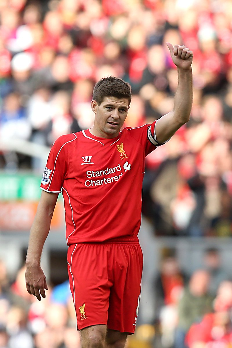 Steven Gerrard became captain of #LFC 15 years ago today.  🏟Appearances: 504 ⚽Goals: 120 🤝Assists: 92  Legend.