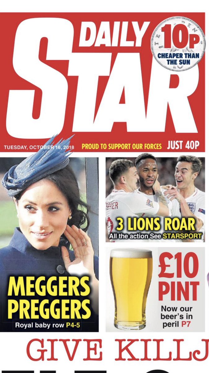 UK Daily Star... #royalbaby #minisussex #meggerspreggers  👶🏼 👑