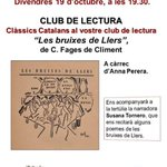 Image for the Tweet beginning: Aquest divendres 19/10, 19.30 h,