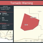 Image for the Tweet beginning: Tornado Warning continues for Church