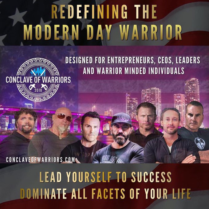 Join us in Miami where 7 Elite Warriors will guide you to success in the rawest most POWERFUL event of the year! Be prepared to be INSPIRED but most of all be prepared to be 💯changed forever. Register, here: #ConclaveOfWarriors #MondayMotivation Photo