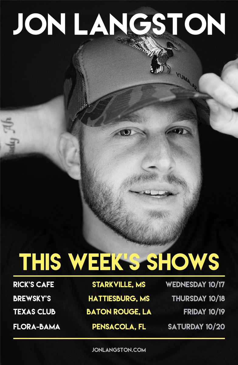 This week we are in Mississippi, Louisiana and Florida! Get your tickets at JonLangston.com