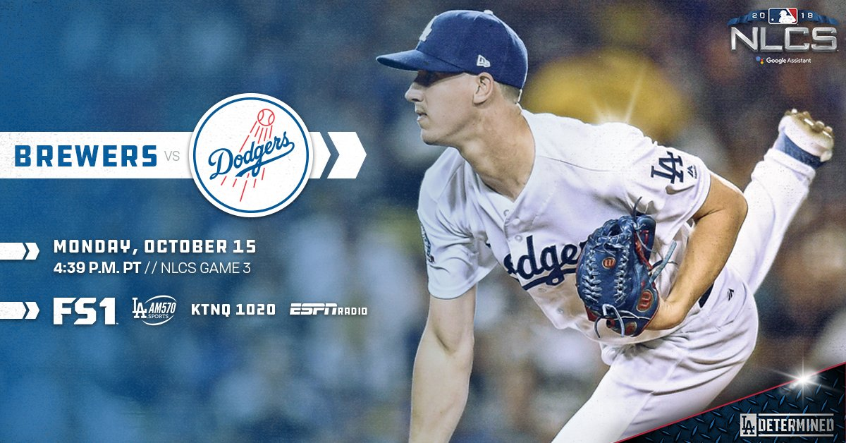 .@buehlersdayoff takes spotlight in NLCS Game 3. #LADetermined  ��: https://t.co/M0bRZRlOwN https://t.co/eIFwm643Qc