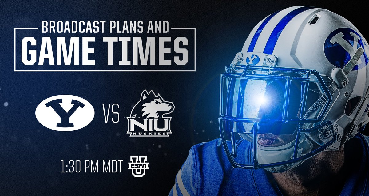 Byu Football On Twitter Broadcast Plans Game Time Update Byu Vs