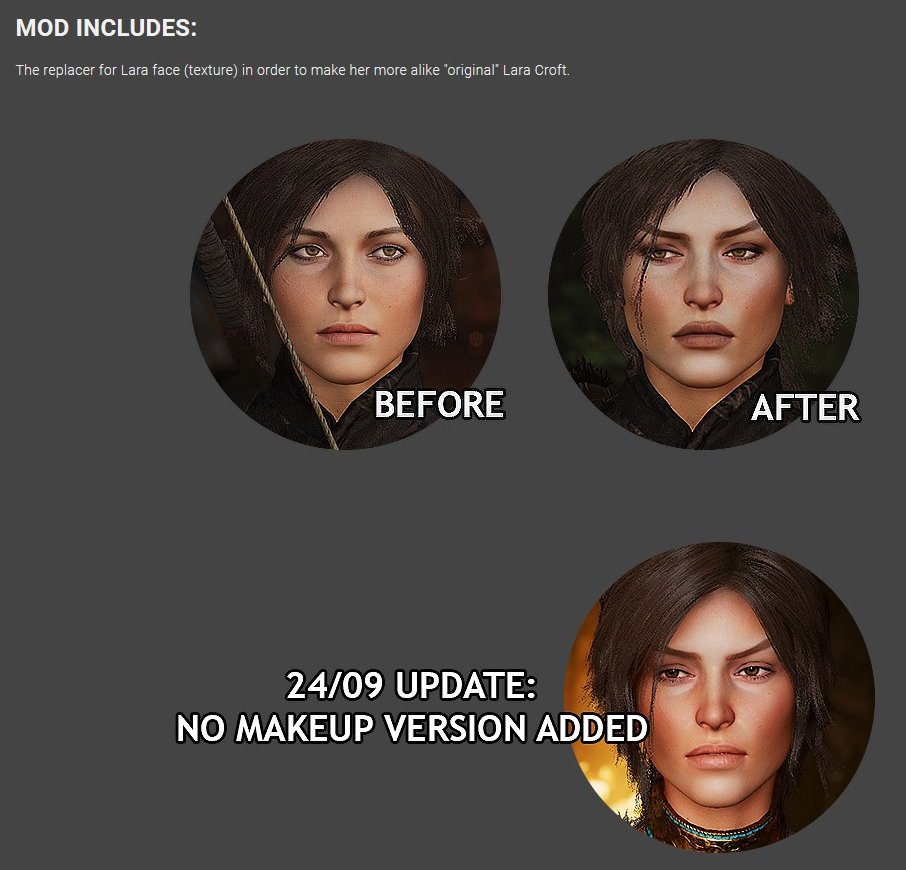 Core Design On Twitter Canonical Lara Mod For Shadow Of The