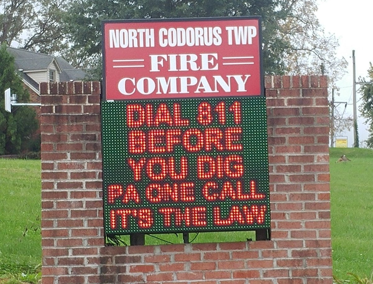Thank you, North Codorus Twp. Fire Company for promoting safe digging within your community. We…