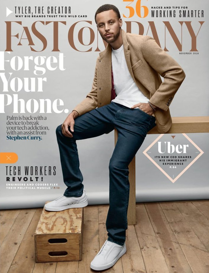 5844d2ca Here's what my Palm/Steph Curry cover story looks like on the cover of our  new issue, which also features our classy redesign. ...