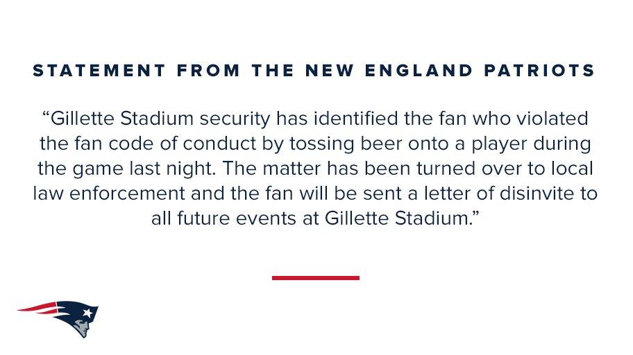 Statement from the New England Patriots: https://t.co/VapBDpzzdg