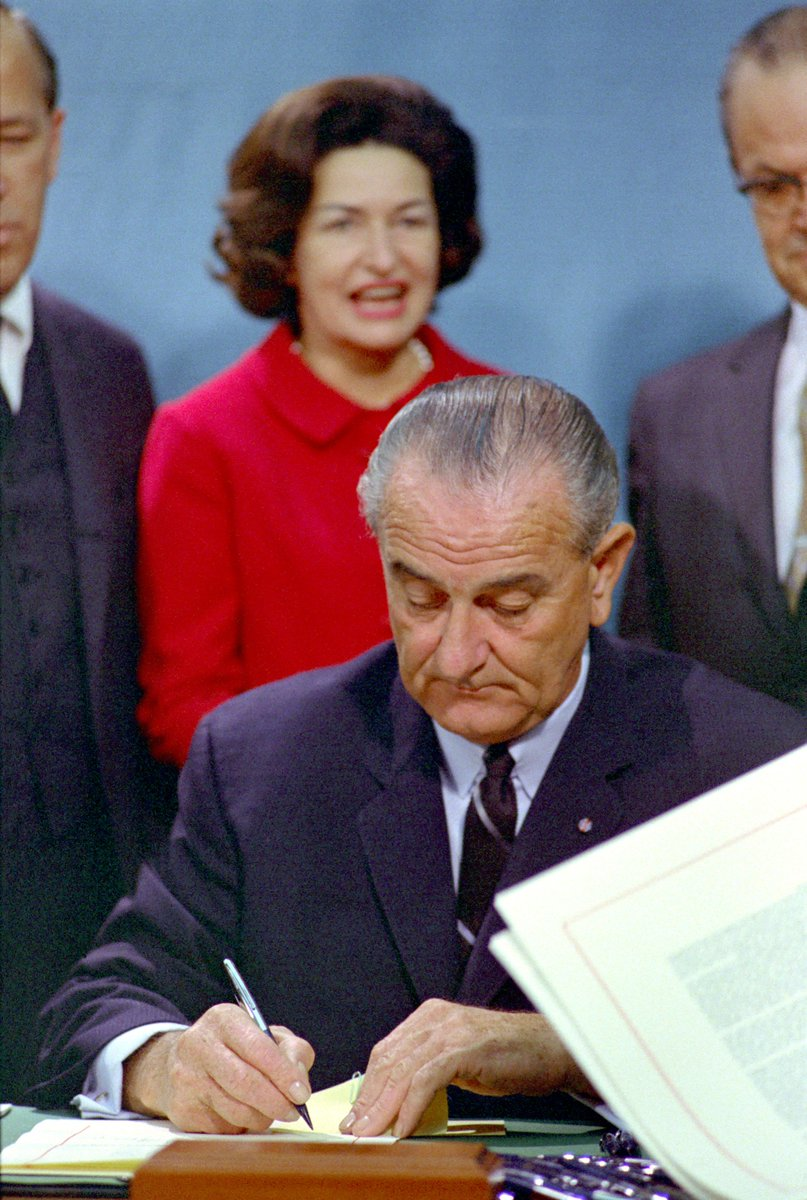 Oct 15 1966 President Johnson Signed Seven Conservation Bills Including The Endangered Species Preservation Act And National Historic