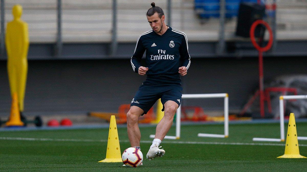 Bale, en la sesión de este lunes (Foto: RM).