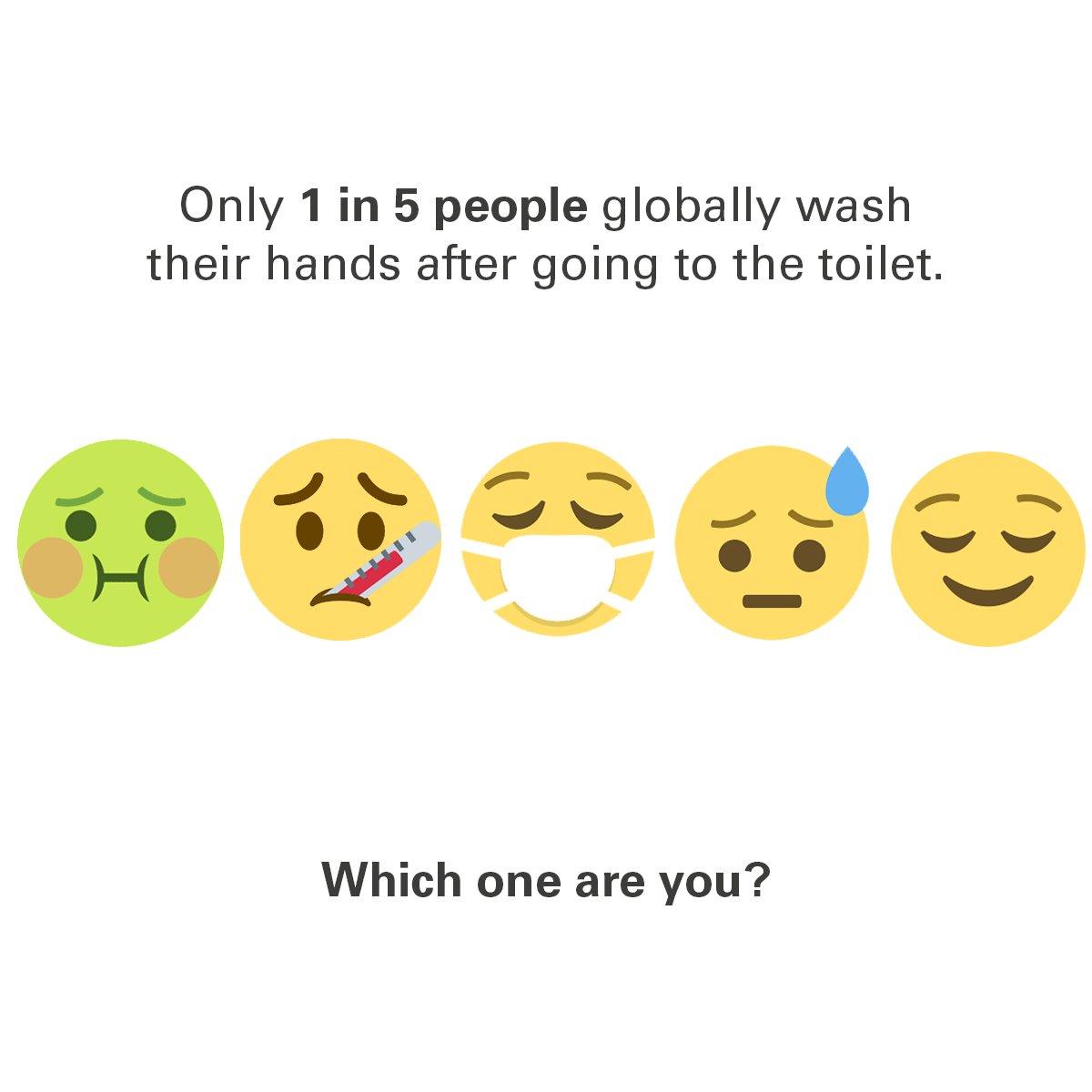 Answer in emojis! #GlobalHandwashingDay @UNICEFROSA