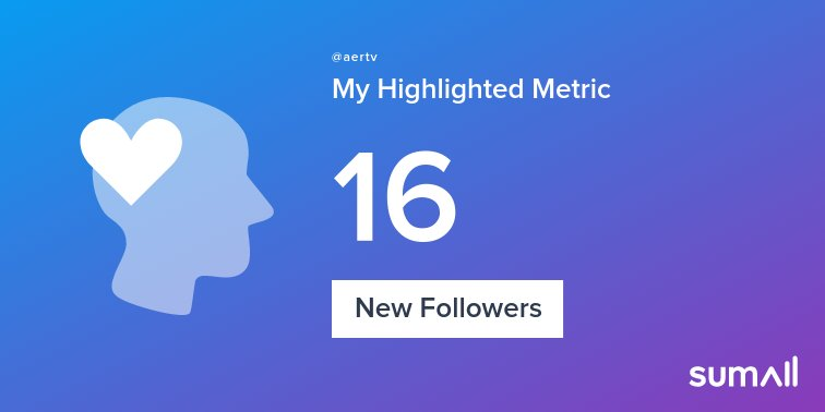My week on Twitter 🎉: 16 New Followers. See yours with https://t.co/OoxjxRcUjn https://t.co/BClFiOZCHm