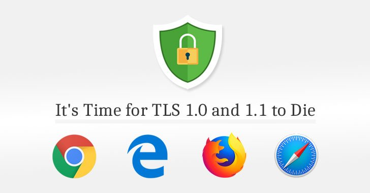 📢 All Major Web Browsers—Chrome, Firefox, Edge, IE and Safari—Today Announced Their Plans to Remove Support for TLS 1.0 and TLS 1.1 Encryption Protocol  https://t.co/vGBmjFdUkL  #privacy #encryption #ssl #https #cybersecurity #cybersecuritymonthm#chromeo#googlen#microsoftth
