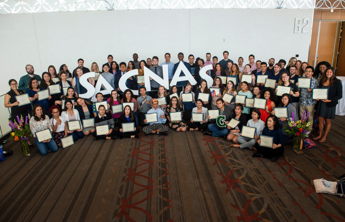 Over 1,000 students presented their research at #SACNAS2018. Through the efforts of over 250 mentor/judges, their work was evaluated and 105 students were recognized for research &amp; presentation skills. Congratulations to all our presenters &amp; awardees!   https:// goo.gl/Bx4n9X  &nbsp;  <br>http://pic.twitter.com/geaFY4DKto
