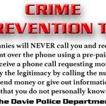 Image for the Tweet beginning: #CrimePrevention tip. DO NOT send