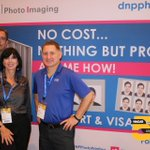 Having a good time here at @NACAStweets! Stop by and see us at booth 727! #DNPPhoto #Print #photo