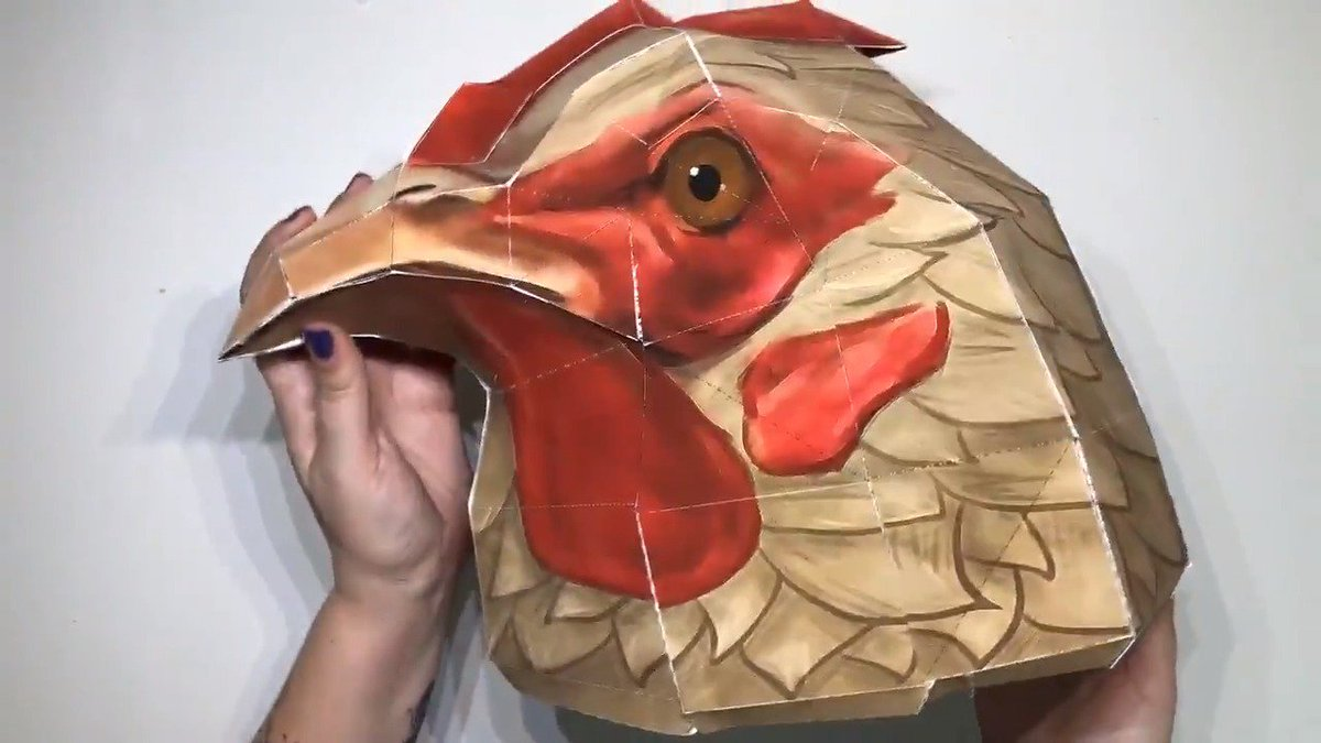 Celebrate Festival of the Lost at home by creating your own Chicken papercraft mask. If youre looking for a different disguise, a three-pack of masks are available on the @BungieStore. Hand model credit: @DesignByZoe. 🐔 bit.ly/2CMjdRB 🎭 bit.ly/2PxvE6B