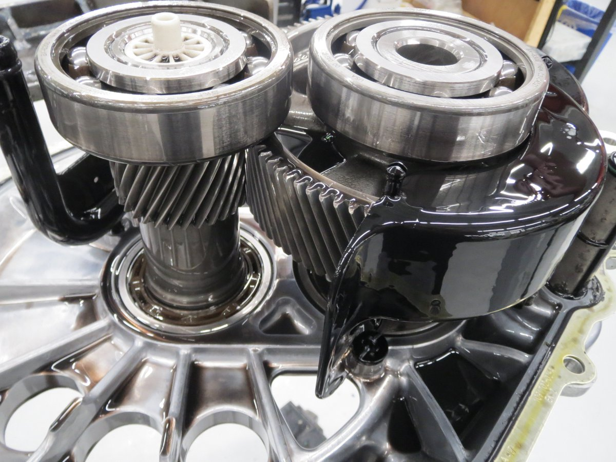 The Model 3 drive system is designed and validated for over 1 million miles – this is what the gears look like after testing