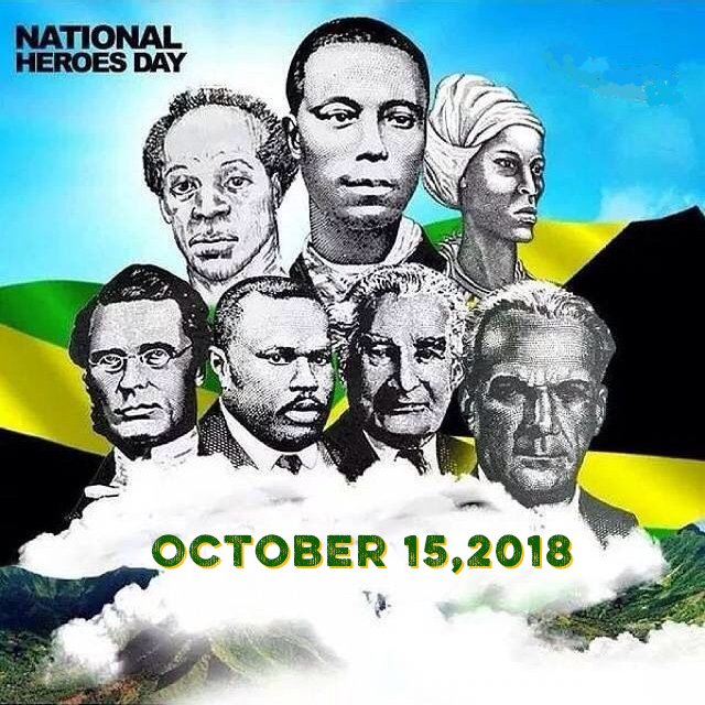 Join us today in celebrating 🇯🇲 Jamaica 🇯🇲 National Heroes Day!