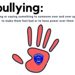 Image for the Tweet beginning: 🛑Bullying! It's #NationalBullyingPreventionMonth. That means