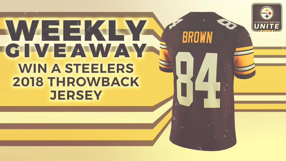 Tomorrow well announce the winner of the throwback Antonio Brown jersey... Will it be you?! ENTER ≫ stele.rs/jbiO9p