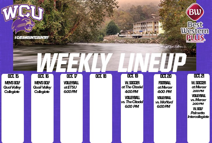 Weekly Line up - ending Oct. 21