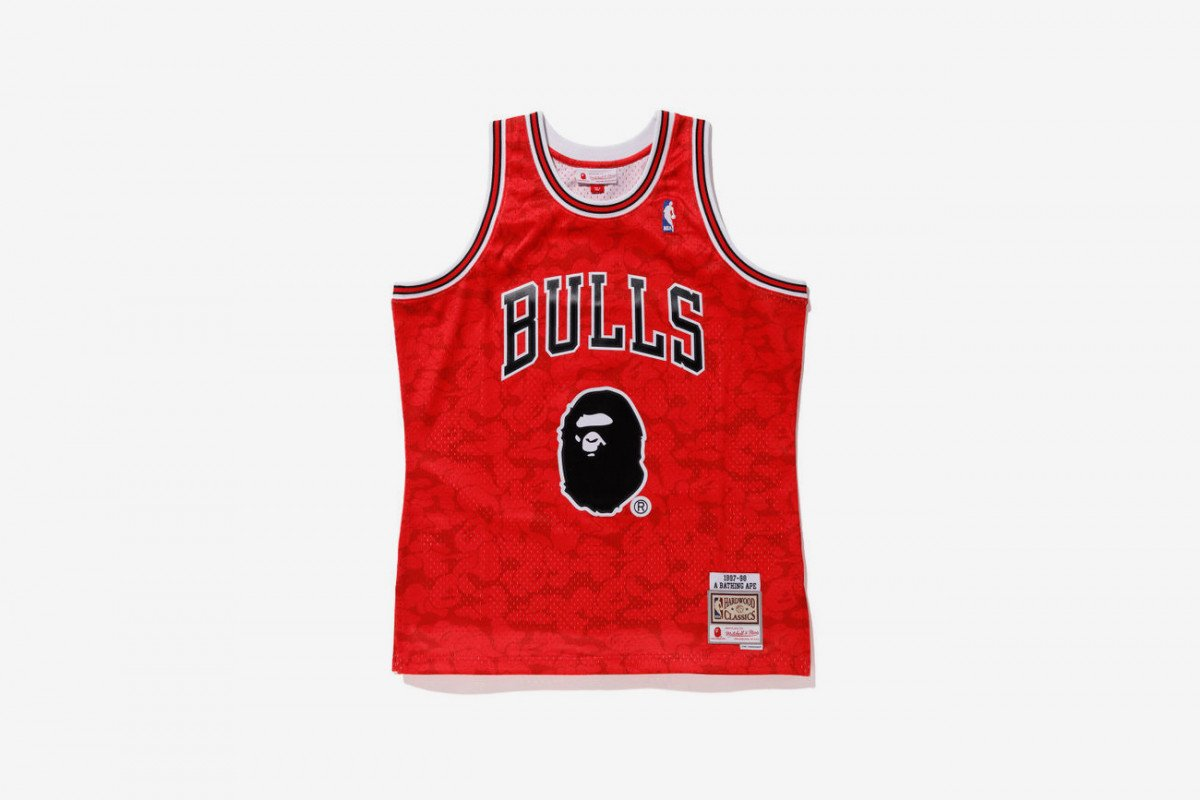 4cfb2999013 heres every piece from the upcoming bape x mitchell amp ness nba collab