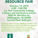 Join us at @IvyTechCC for the STEM Career and Resource Fair on Friday, October 19. @InLsamp will be hosting students from across the alliance for the event. @_PASSPORT2IUPUI sharing infor #ThinkBigDiversity #FutureSTEMLeaders