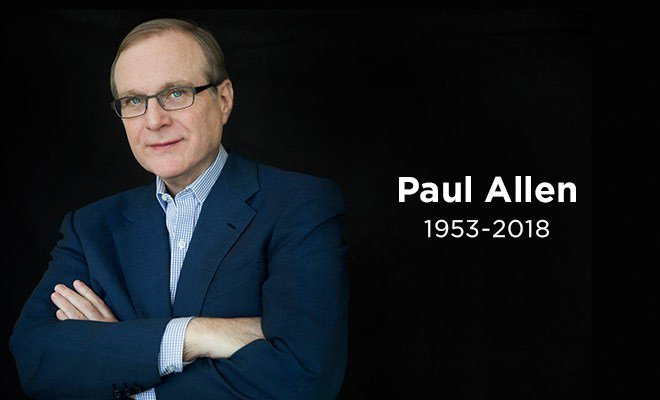 Microsoft Co-Founder Paul Allen Passes Away at 65 Following Battle With Cancer https://t.co/Jh4lx3bBZm