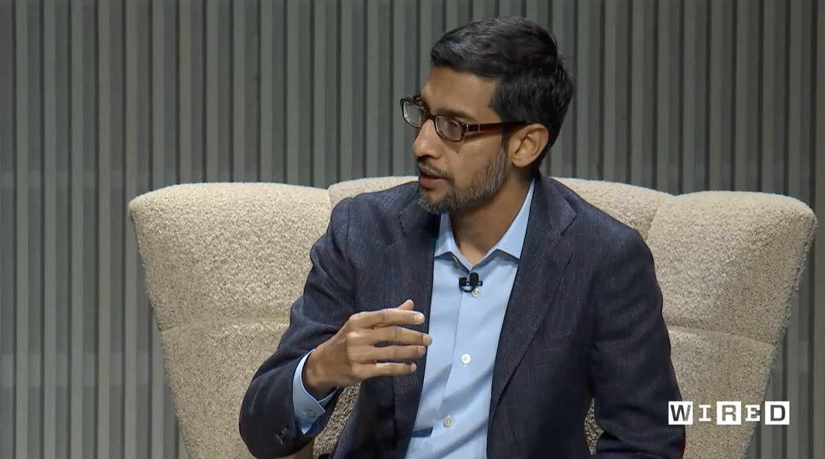.@sundarpichai: We are cautious about working with the military in areas where AI gets used with autonomous weaponry. And it's not just a concern of employees—senior AI technicians share the same concern. If you're so early in a technology, how do you use it responsibly? #WIRED25