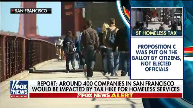 San Francisco is set to vote on taxing large companies to aid in homeless services. @DeirdreBolton reports. #Cavuto https://t.co/bYElrlF7F3