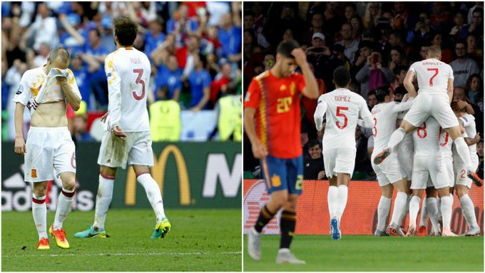 28 partidos después, la @SeFutbol volvió a contra su bestia negra #NationsLeague Photo