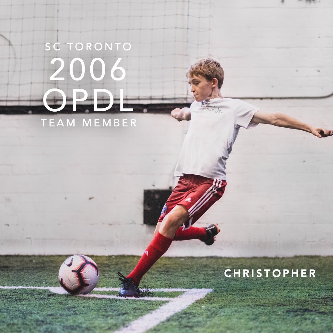 Congratulations Christopher for earning a spot on the 2006 SC Toronto OPDL Team #SupportLocalFootball #Toronto #2006Boys  #SCToronto #TorontoSoccer #SoccerInTheSix #OPDL #OntarioSoccer #PlayInspireUnite #Football #Soccer #Canada2026 #TheBeautifulGame