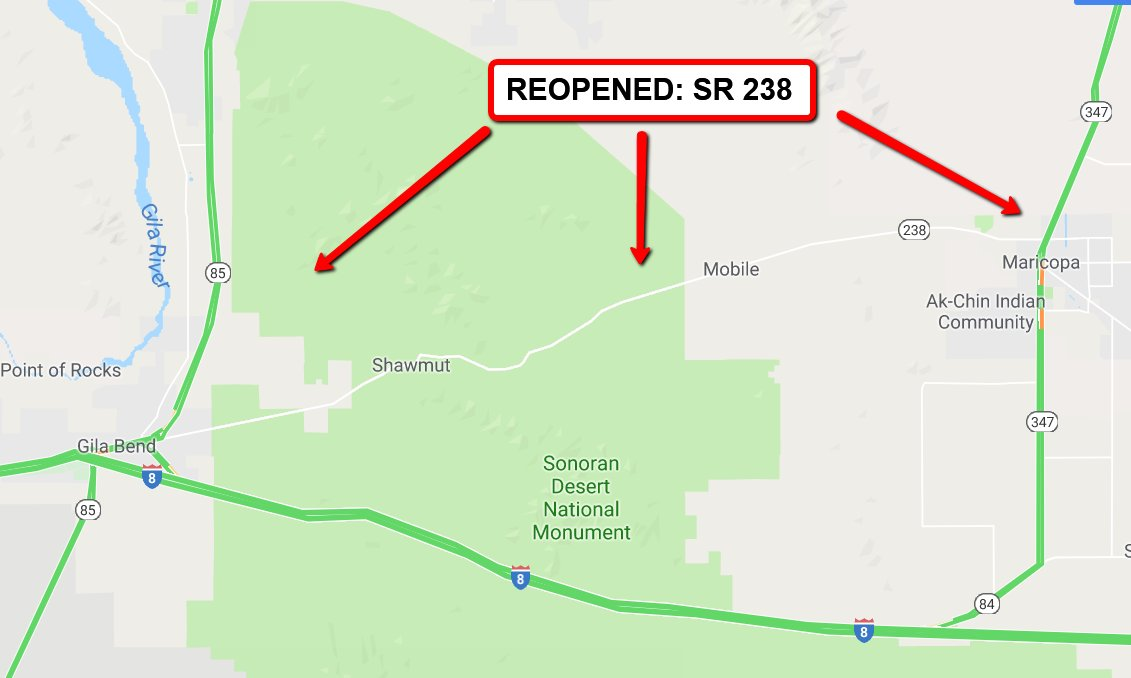 ICYMI:   *** REOPENING UPDATE *** All lanes are open. #aztraffic #tucson