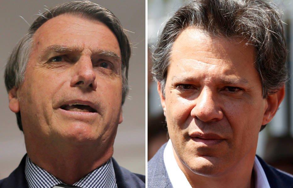 Ibope: No 2º turno, Bolsonaro tem 59% dos votos válidos e Haddad, 41%. https://t.co/J1spcACFs4
