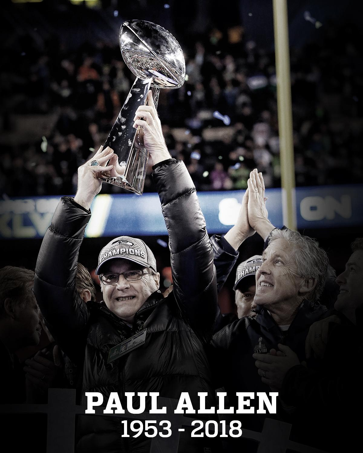 We are saddened to share that @Seahawks owner Paul Allen has passed away at age 65: https://t.co/Qcc4onRSZA https://t.co/WXwpwSSTxh