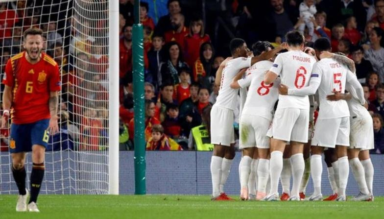 Gareth Southgate has praised his side's 'courage' after they held on to beat Spain.   More: https://t.co/CmC5CRvXPN