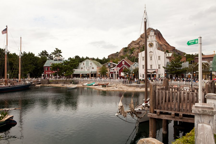 It is maybe the greatest thing in the world that Japan's version of a Disney resort has a *Cape Cod* area.