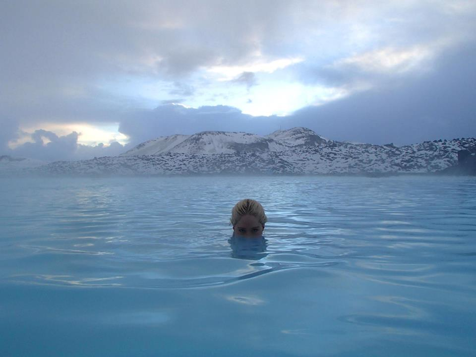 Channeling my inner Undine in Iceland. I'm a total water baby. Blue Lagoon, Iceland.