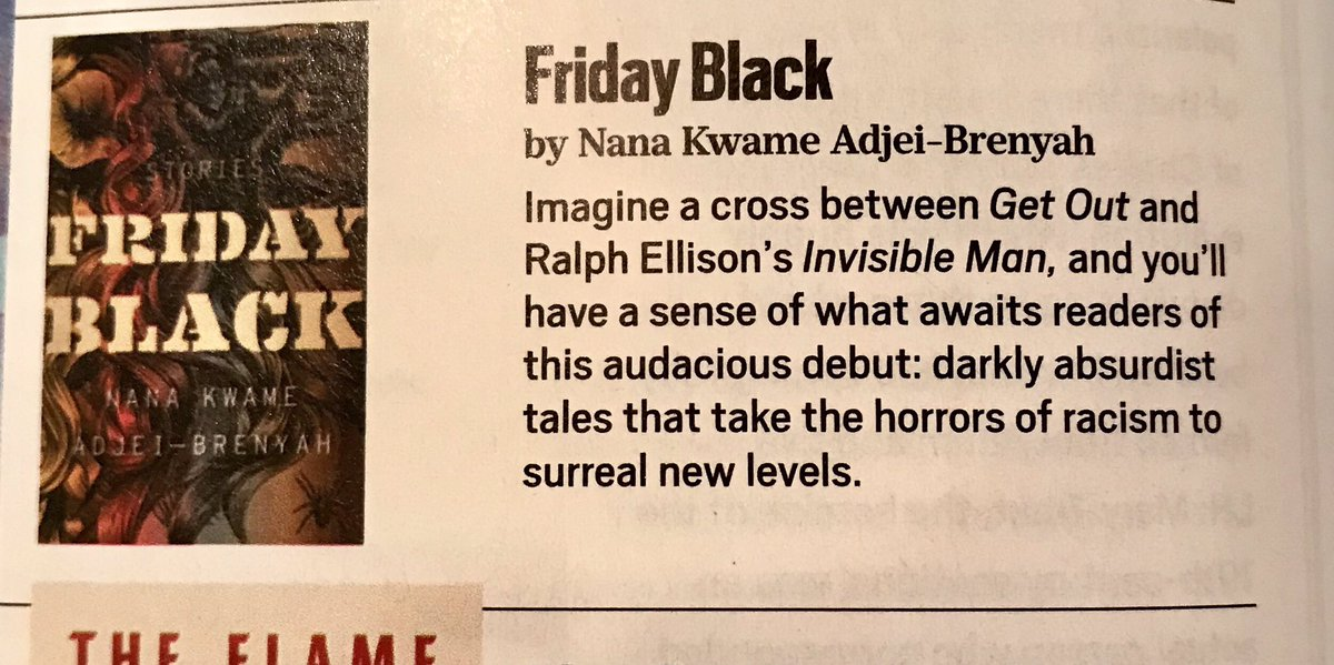 More love for FRIDAY BLACK by @NK_Adjei @HMHbooks in the new issue of @oprahmagazine .