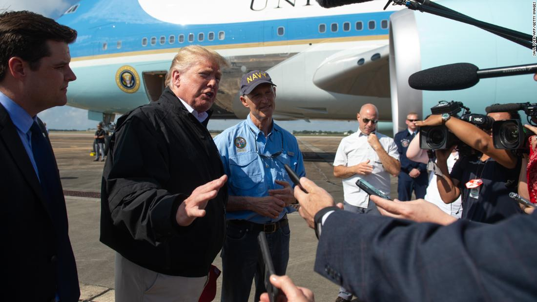 President Trump and first lady Melania Trump tour hurricane-ravaged Florida and Georgia https://t.co/75SjY8gJuR https://t.co/R6QqL9xFsj