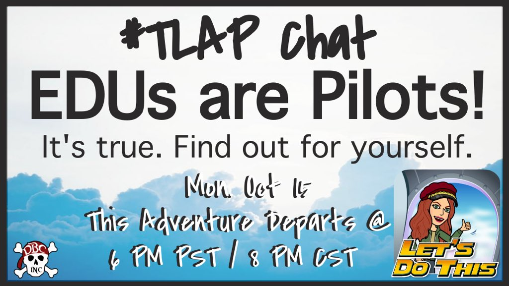 25 minutes until #TLAP!!! Join the crew for a flight at 8pm CST!! #LearnLAP #LeadLAP