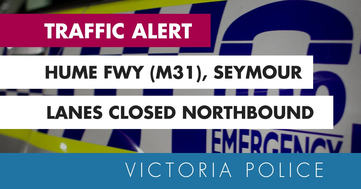The hume freeway is closed northbound at the goulburn valley