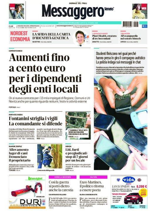 Buongiorno #Friuli, ecco le prime pagine di oggi d...