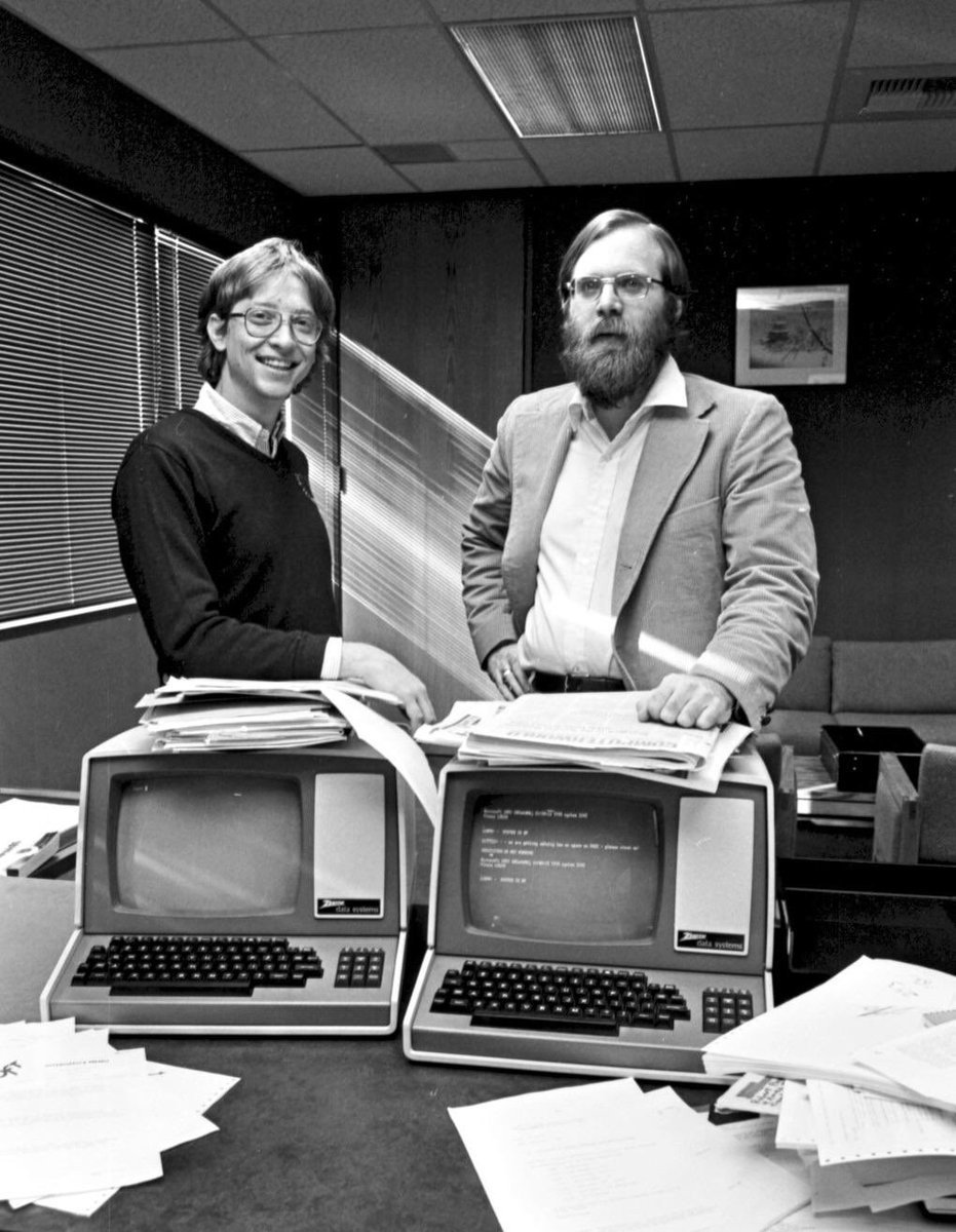 Love this photo of Gates and Allen.