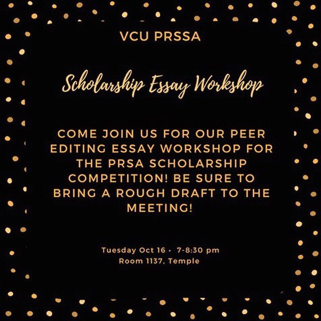 Environmental Science Essay Stop By Our Essay Workshop This Tuesday To Get Your Essay For The Prsarva  Scholarship Essay About English Class also Health Needs Assessment Essay Prssa At Vcu  Prssaatvcu Twitter Profile  Twipu Example Of An English Essay