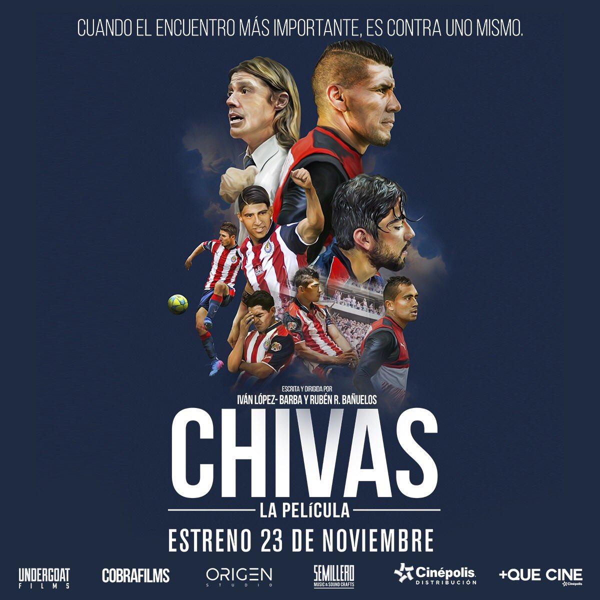 🙌 ¡23 de Noviembre, Estreno en Todo 🇲🇽!   #ChivasLaPelícula 🎥🍿🐐