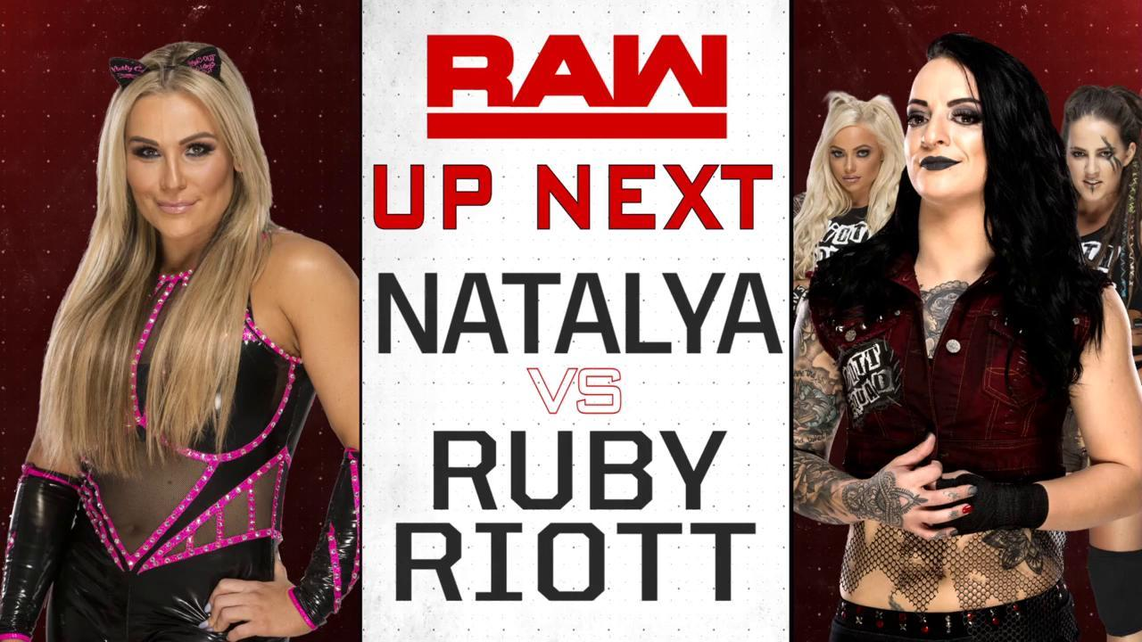 UP NEXT: @NatbyNature goes one-on-one with @RubyRiottWWE on #RAW! https://t.co/9aNnJVJe6o