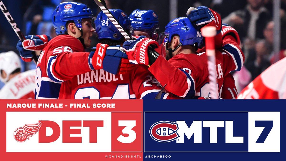 Deuxième victoire consécutive pour les Canadiens!  Second straight win for the Canadiens!  #GoHabsGo